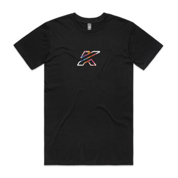 Mens KTR Race T-Shirt, Spray Colour Print Thumbnail