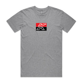 Mens KTR Grey Street T-Shirt, Red & Black Centre Print Thumbnail